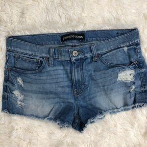 Express Hi-Rise Distressed Shorts Size 10